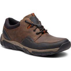 Półbuty CLARKS - WalbeckEdge II 261386577 Brown Leather. Brązowe derby męskie Clarks, z materiału. Za 369,00 zł.