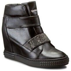 Sneakersy CARINII - B3814 E50-000-POL-B88. Czarne sneakersy damskie Carinii, ze skóry. W wyprzedaży za 309,00 zł.