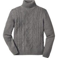 Swetry męskie: Sweter z golfem bonprix szary melanż