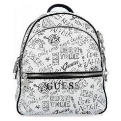 Guess Damski Plecak, Biały. Białe plecaki damskie Guess, z aplikacjami. Za 649,00 zł.