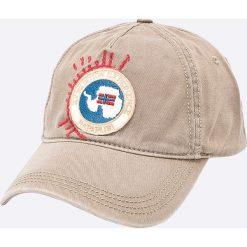 Napapijri - Czapka. Szare czapki z daszkiem męskie Napapijri. W wyprzedaży za 119,90 zł.