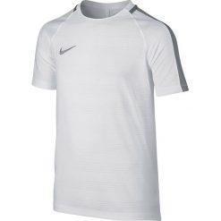 Nike Koszulka męska Y Dry SQD Top SS DN biała r. L (844622 100). Białe koszulki sportowe męskie marki Adidas, l, z jersey, do piłki nożnej. Za 89,00 zł.