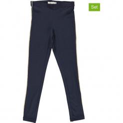 Legginsy (2 pary) w kolorze granatowym. Niebieskie legginsy dziewczęce marki Name it Kids, z bawełny. W wyprzedaży za 49,95 zł.