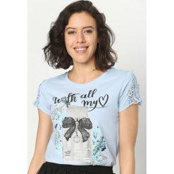 T-shirty damskie: Niebieski T-shirt Perfume