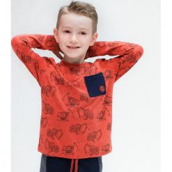 Koszulka. Czerwone t-shirty chłopięce z długim rękawem COOL, z aplikacjami, z bawełny. Za 37,43 zł.