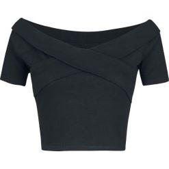 Urban Classics Ladies Off Shoulder Cross Rib Tee Koszulka damska czarny. Czarne bluzki z odkrytymi ramionami Urban Classics, m, z materiału, z kołnierzem typu carmen, z krótkim rękawem. Za 42,90 zł.