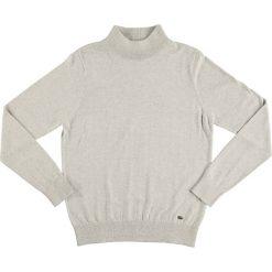 Golfy męskie: Sweter w kolorze jasnoszarym