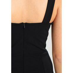 Sukienki hiszpanki: WAL G. PLUNGE NECK RUCHED MIDI DRESS Sukienka etui black