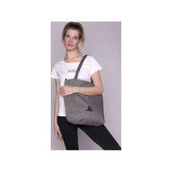 TORBA DAMSKA na ramię jasno szara. Szare torebki klasyczne damskie drops, w paski, z bawełny. Za 139,00 zł.