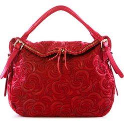 Torebki klasyczne damskie: Skórzana torebka w kolorze czerwonym – 38 x 35 x 16 cm