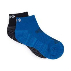 Skarpetki męskie: Skarpetki (2 pary) w kolorze czarnym i niebieskim