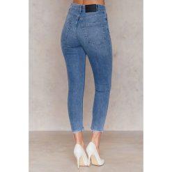 Spodnie z wysokim stanem: Cheap Monday Jeansy Donna Washed Out - Blue