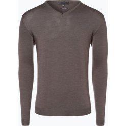 Swetry klasyczne męskie: Finshley & Harding – Sweter męski, brązowy