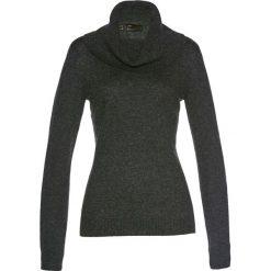 Golfy damskie: Sweter z szerokim golfem bonprix antracytowy melanż