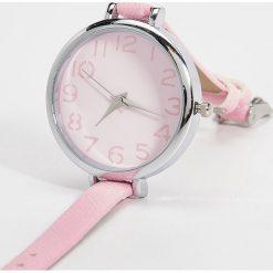 Różowy zegarek - Różowy. Czerwone zegarki damskie Sinsay. Za 24,99 zł.