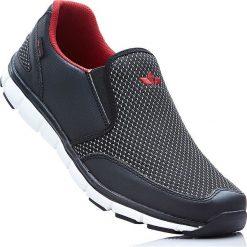 Buty wsuwane Lico bonprix czarno-czerwony. Czarne buty skate męskie bonprix. Za 149,99 zł.