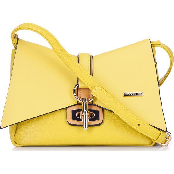 b7cb85290c4cc Torebka damska 88-4Y-209-Y - Żółte walizki Wittchen, w paski, na ...