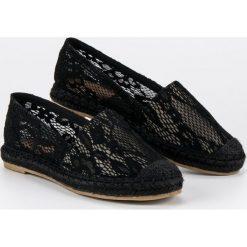 Tomsy damskie: Czarne koronkowe espadryle Seastar czarne