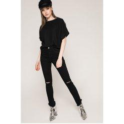 Noisy May - Jeansy Lexi. Czarne jeansy damskie rurki marki Noisy May, z bawełny, z podwyższonym stanem. W wyprzedaży za 79,90 zł.