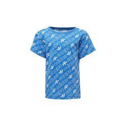 T-shirty z krótkim rękawem Dziecko  adidas  Koszulka Trefoil Monogram. Niebieskie bluzki dziewczęce z krótkim rękawem Adidas. Za 89,95 zł.
