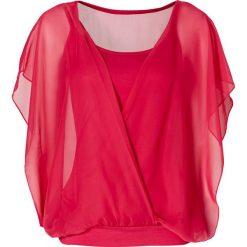 Bluzki damskie: Bluzka shirtowa bonprix ciemnoróżowy