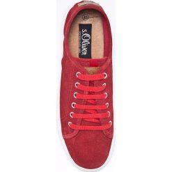S. Oliver - Tenisówki. Czerwone tenisówki męskie S.Oliver, z gumy, na sznurówki. W wyprzedaży za 199,90 zł.