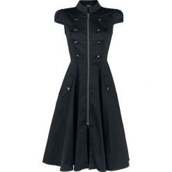 H&R London Black Ursula Dress Sukienka czarny. Czarne sukienki z falbanami marki H&R London, xl, ze stójką. Za 244,90 zł.