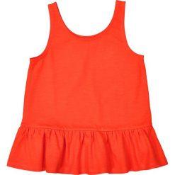 Bluzki dziewczęce: Bluzka bez rękawów, dół z falbanką, 3-12 lat