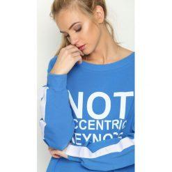 Bluzy damskie: Niebieska Bluza Impossible