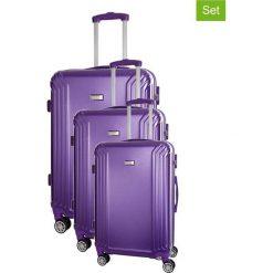 Walizki: Zestaw walizek w kolorze fioletowym – 3 szt.
