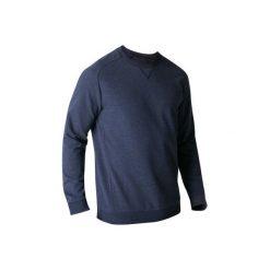 Bluza Gym & Pilates 500 męska. Niebieskie bluzy męskie marki DOMYOS, m, z bawełny. W wyprzedaży za 39,99 zł.