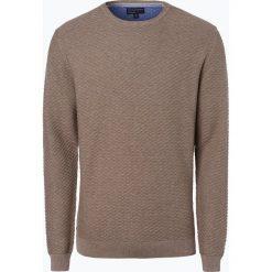 Swetry klasyczne męskie: Nils Sundström – Sweter męski, brązowy