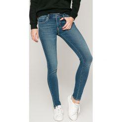 Levi's - Jeansy 711. Brązowe jeansy damskie Levi's®, z bawełny, z obniżonym stanem. Za 299,90 zł.