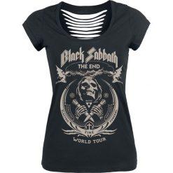 Black Sabbath The End Grim Reaper Koszulka damska czarny. Czarne bluzki z odkrytymi ramionami marki Black Sabbath, xl, z nadrukiem, eleganckie, z dekoltem na plecach. Za 99,90 zł.