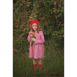Sukienka RED TULIP. Czerwone sukienki dziewczęce z falbanami Pakamera, z bawełny, klasyczne. Za 169,00 zł.