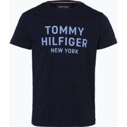 Tommy Hilfiger - T-shirt męski, niebieski. Niebieskie t-shirty męskie TOMMY HILFIGER, m, z napisami, z bawełny. Za 99,95 zł.