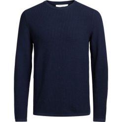 Kardigany męskie: Sweter z okrągłym dekoltem z dzianiny, 100% bawełny