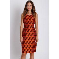 Sukienki: Pomarańczowa sukienka bez rękawów BIALCON