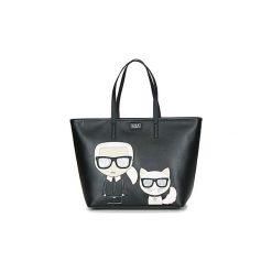 Torby shopper Karl Lagerfeld  K/IKONIK SHOPPER. Czarne shopper bag damskie marki KARL LAGERFELD. Za 1289,00 zł.