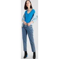 Swetry klasyczne damskie: Karen Millen SCALLOP BARDOT JUMPER Sweter blue