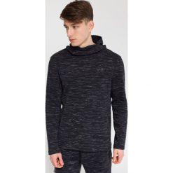 Bluzy męskie: Bluza męska BLM214 – ciemny szary melanż