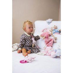 Przytulanki i maskotki: Trudi – Różowy kocyk przytulanka z króliczkiem