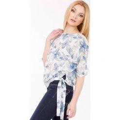 Bluzki asymetryczne: Wiosenna bluzka z szarfą