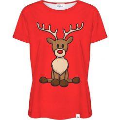Colour Pleasure Koszulka damska CP-030 295 czerwona r. XS/S. Fioletowe bluzki damskie marki Colour pleasure, uniwersalny. Za 70,35 zł.