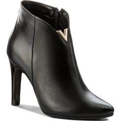 Botki SERGIO BARDI - Velletri FW127272617LM  101. Czarne buty zimowe damskie Sergio Bardi, z materiału, na obcasie. W wyprzedaży za 229,00 zł.