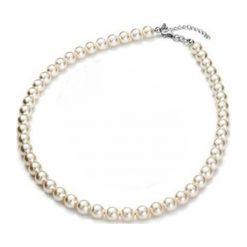 Naszyjniki damskie: Naszyjnik z pereł w kolorze kremowym – dł. 43 cm