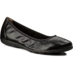 Baleriny CAPRICE - 9-22150-20 Black Replite 010. Czarne baleriny damskie zamszowe marki Caprice, na płaskiej podeszwie. W wyprzedaży za 149,00 zł.