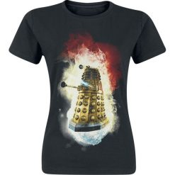 Doctor Who Dalek - You Will Obey Koszulka damska czarny. Czarne bluzki asymetryczne Doctor Who, m, z nadrukiem, retro, z okrągłym kołnierzem. Za 79,90 zł.