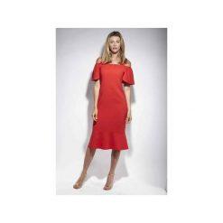 Sukienka Sophie klasyczna czerwień elegancka. Fioletowe sukienki balowe marki Reserved, z falbankami. Za 499,00 zł.