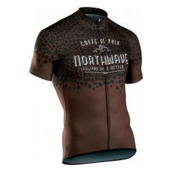 Northwave Męska Koszulka Rowerowa Caffealvolo Jrs S/S Brown M. Brązowe koszulki sportowe męskie Northwave, m. Za 249,00 zł.